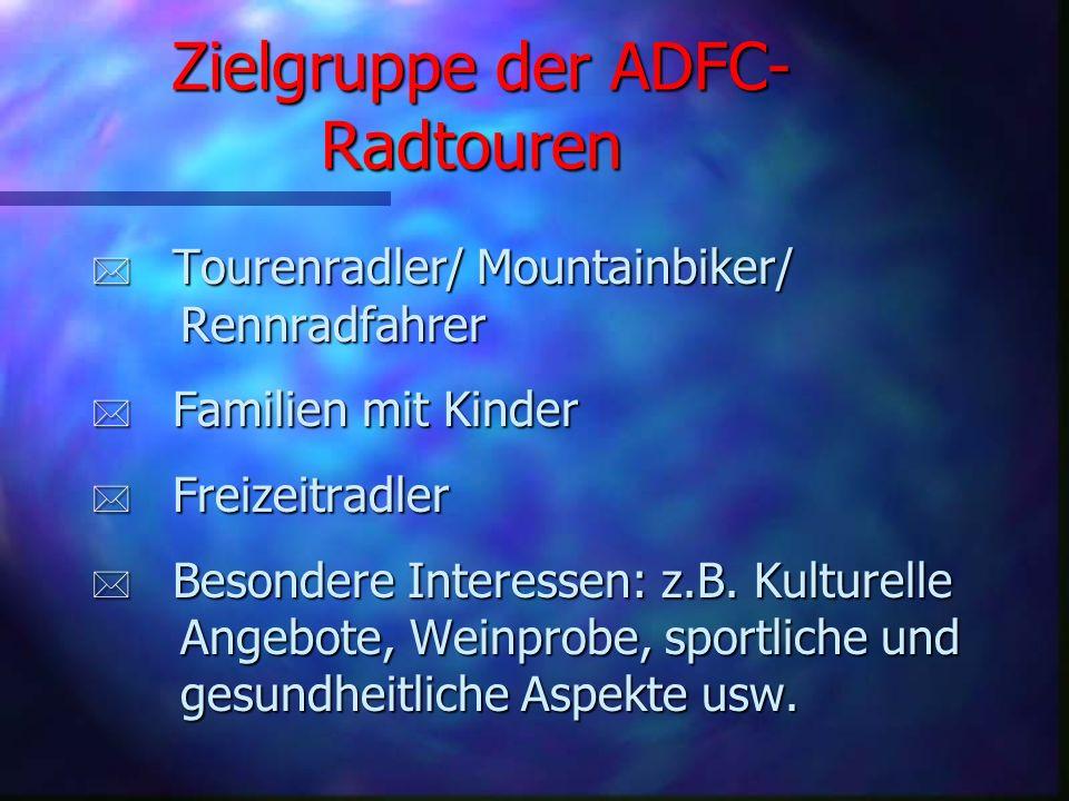 Zielgruppe der ADFC-Radtouren