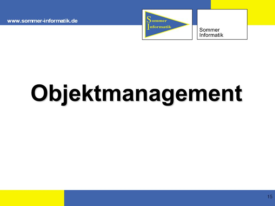 Objektmanagement