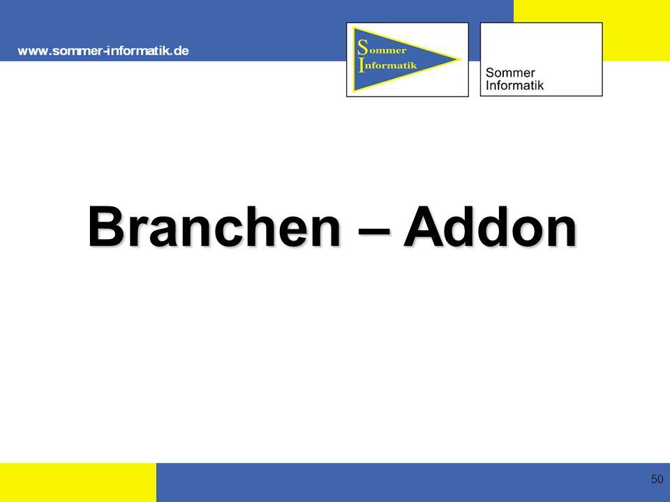 Branchen – Addon