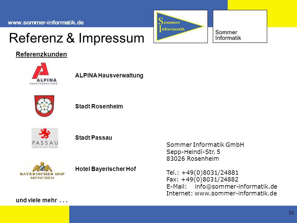 Referenz & Impressum Referenzkunden ALPINA Hausverwaltung