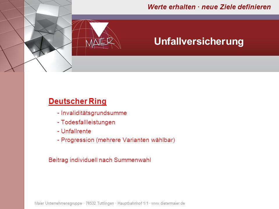 Unfallversicherung Deutscher Ring - Invaliditätsgrundsumme