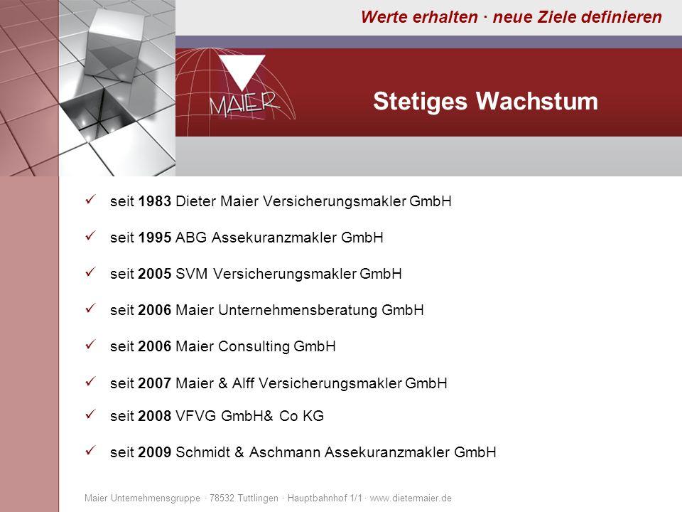Stetiges Wachstum seit 1983 Dieter Maier Versicherungsmakler GmbH