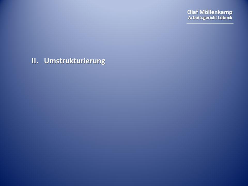 II. Umstrukturierung Versetzung, Änderungskündigung, Arbeitsvertrag, Direktionsrecht