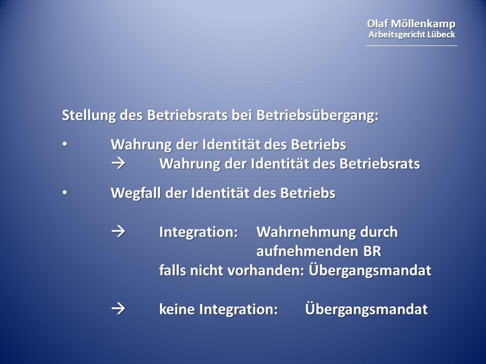 Stellung des Betriebsrats bei Betriebsübergang: