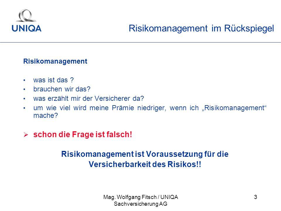 Risikomanagement im Rückspiegel
