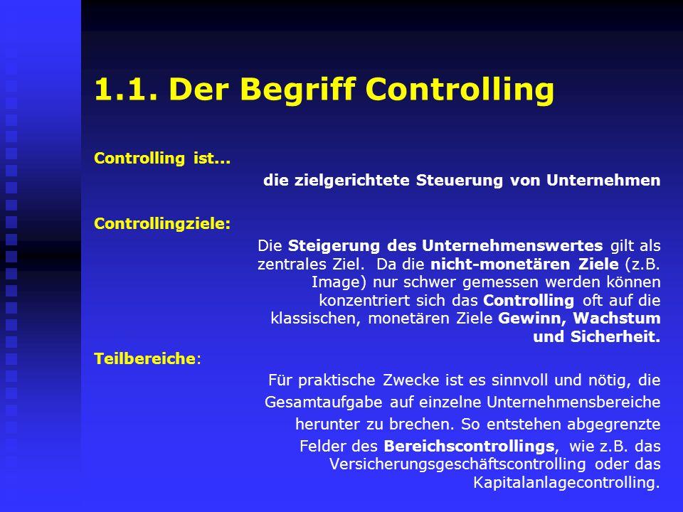 1.1. Der Begriff Controlling