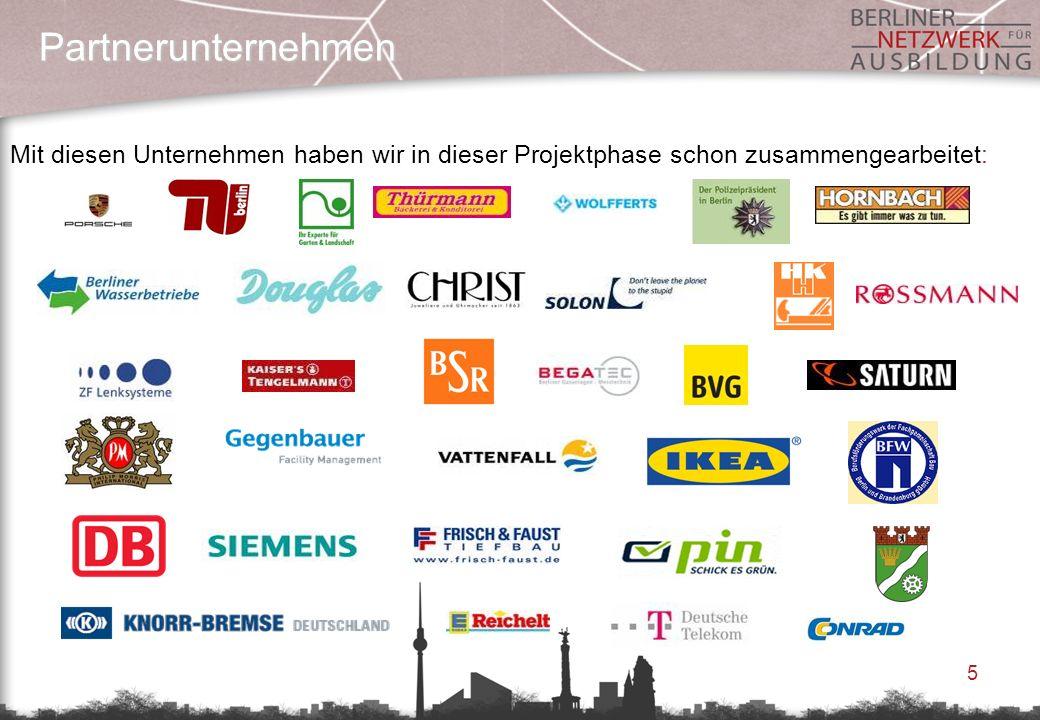 Partnerunternehmen Mit diesen Unternehmen haben wir in dieser Projektphase schon zusammengearbeitet: