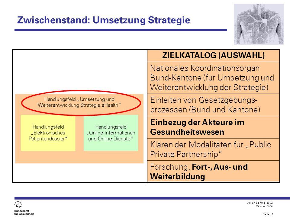 Zwischenstand: Umsetzung Strategie