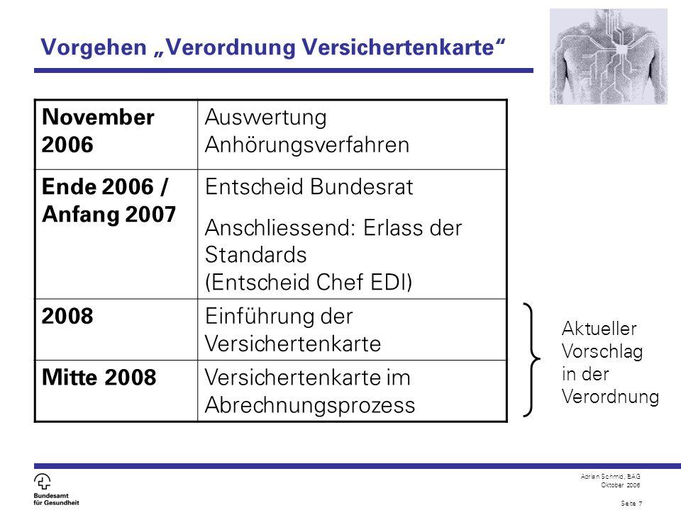 """Vorgehen """"Verordnung Versichertenkarte"""