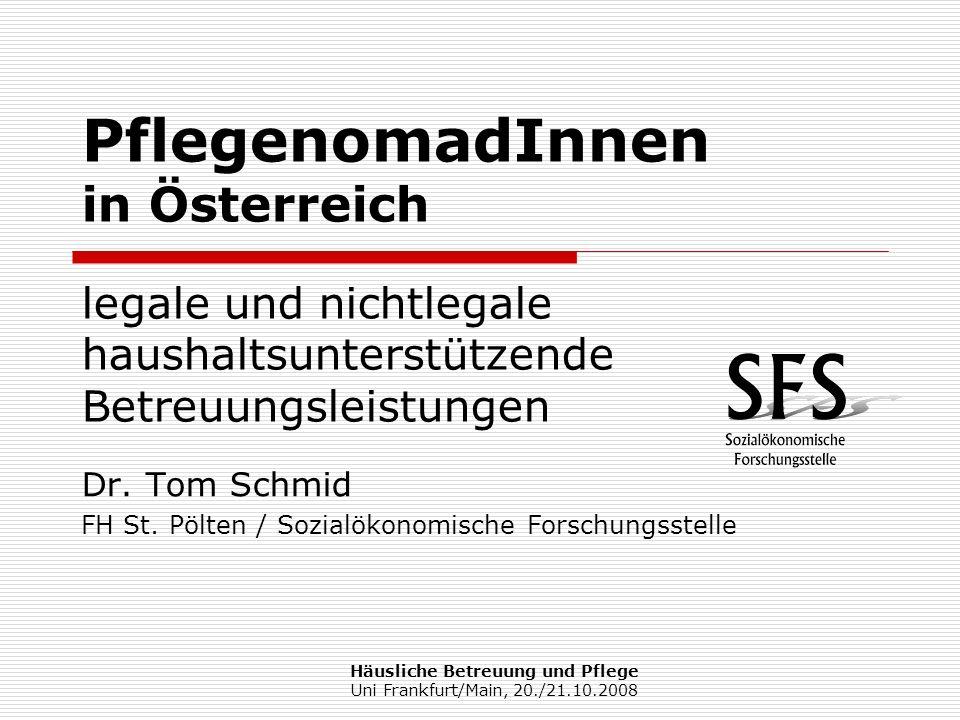 Dr. Tom Schmid FH St. Pölten / Sozialökonomische Forschungsstelle