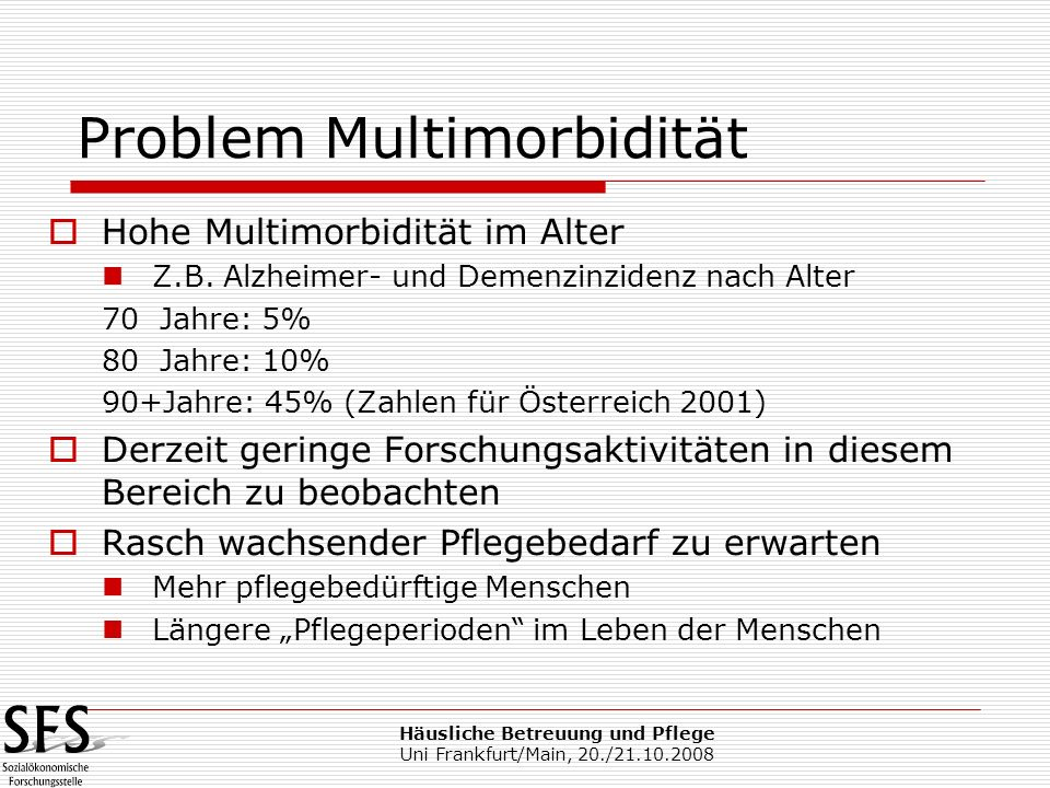 Problem Multimorbidität