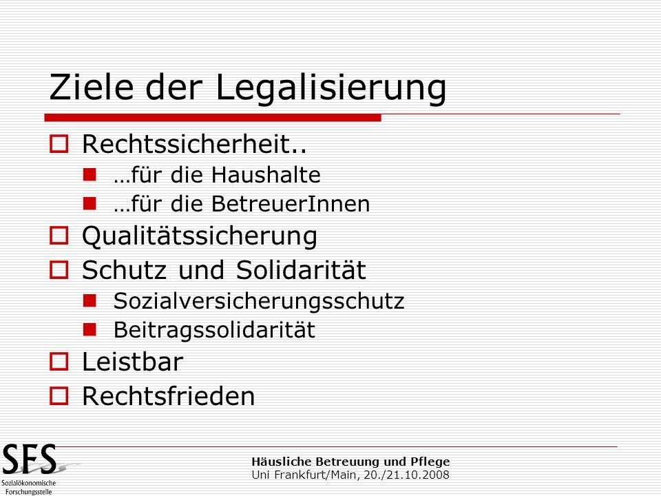 Ziele der Legalisierung