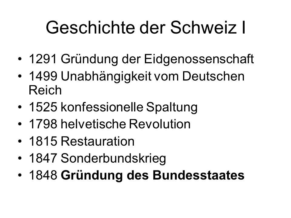 Geschichte der Schweiz I