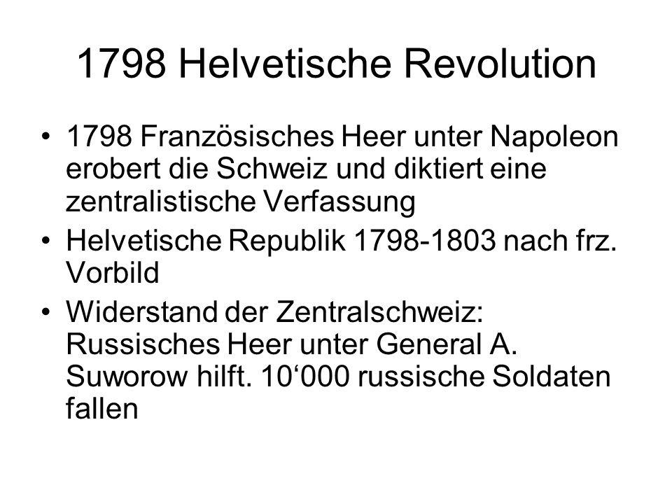 1798 Helvetische Revolution