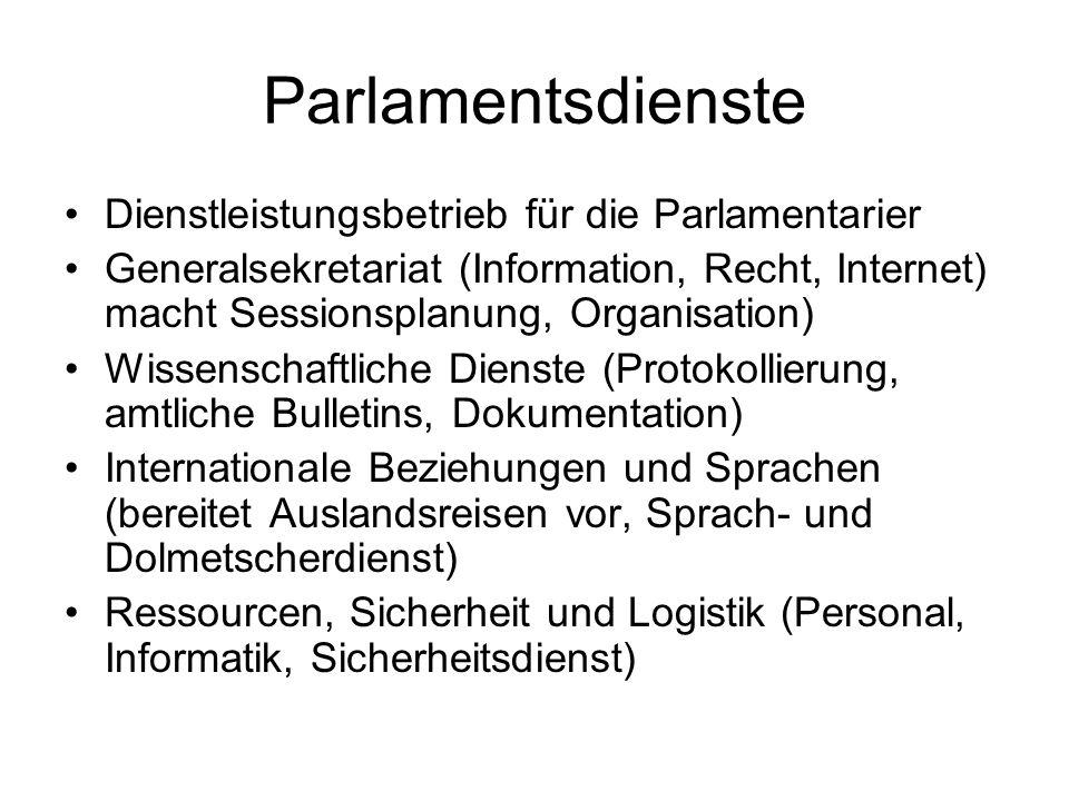 Parlamentsdienste Dienstleistungsbetrieb für die Parlamentarier