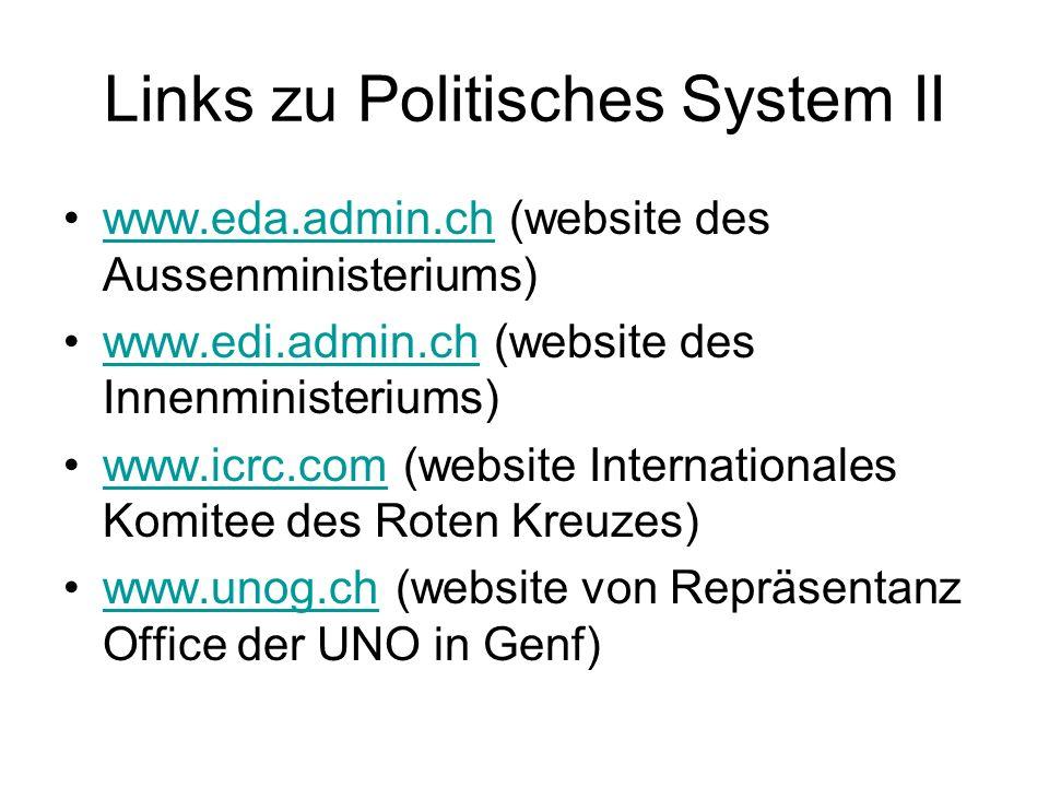 Links zu Politisches System II