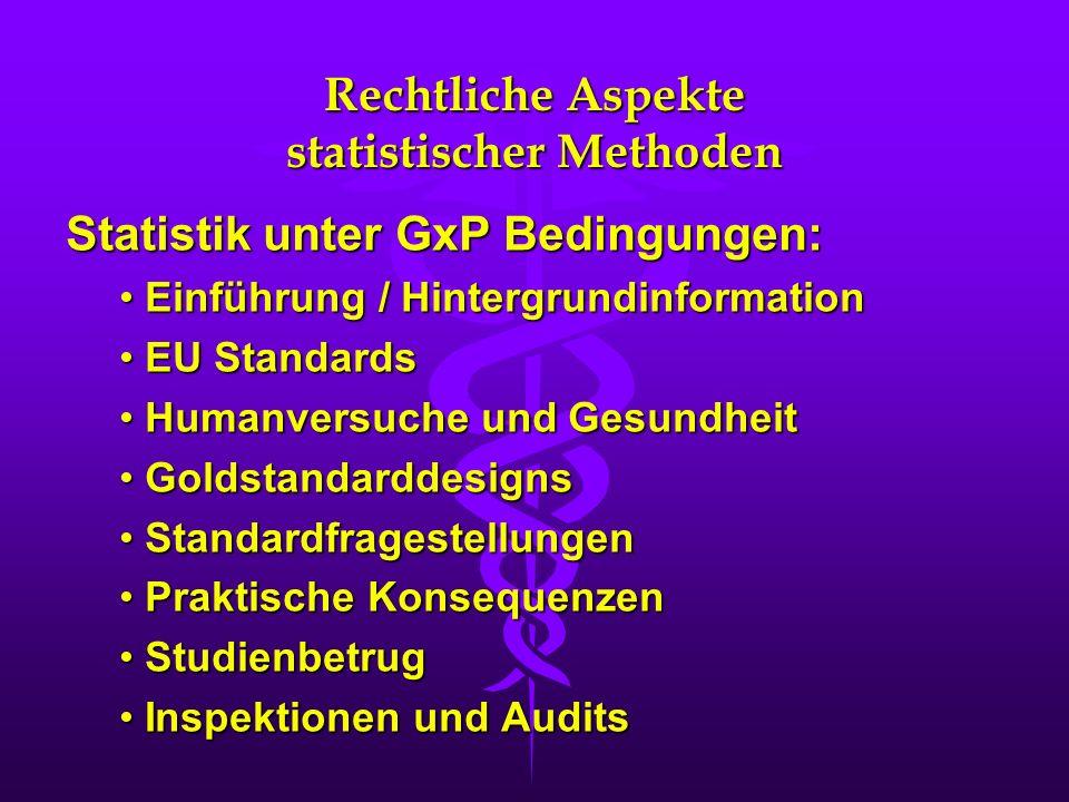 Rechtliche Aspekte statistischer Methoden