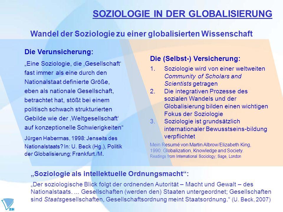 SOZIOLOGIE IN DER GLOBALISIERUNG