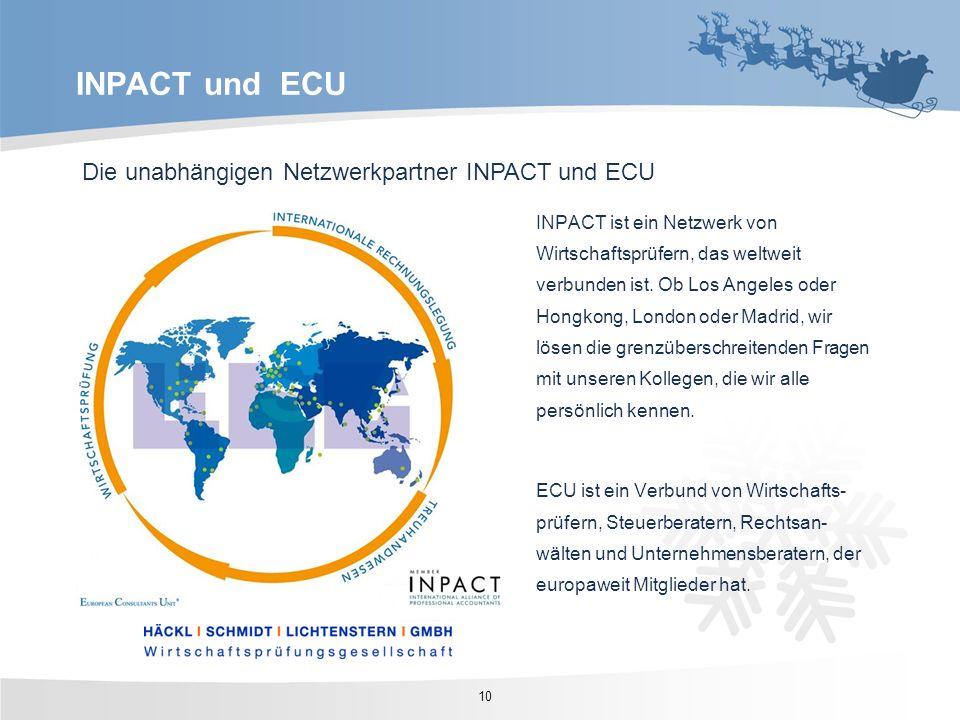 INPACT und ECU Die unabhängigen Netzwerkpartner INPACT und ECU