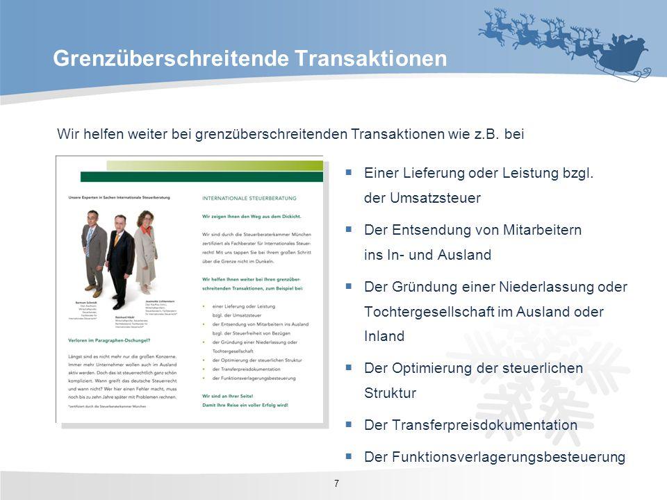 Grenzüberschreitende Transaktionen