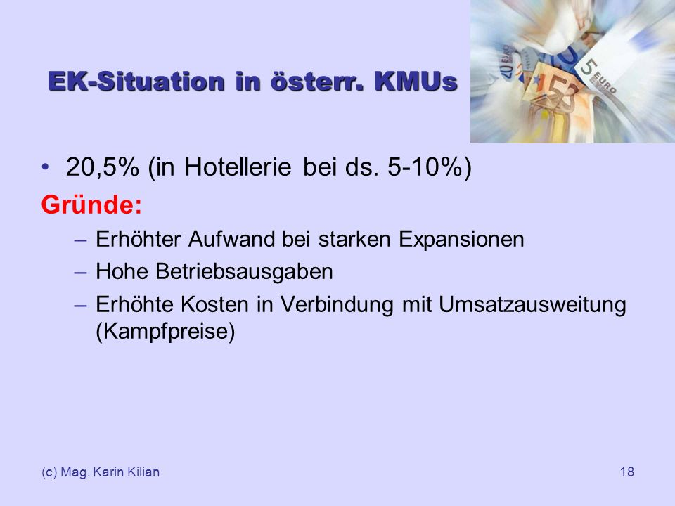 EK-Situation in österr. KMUs