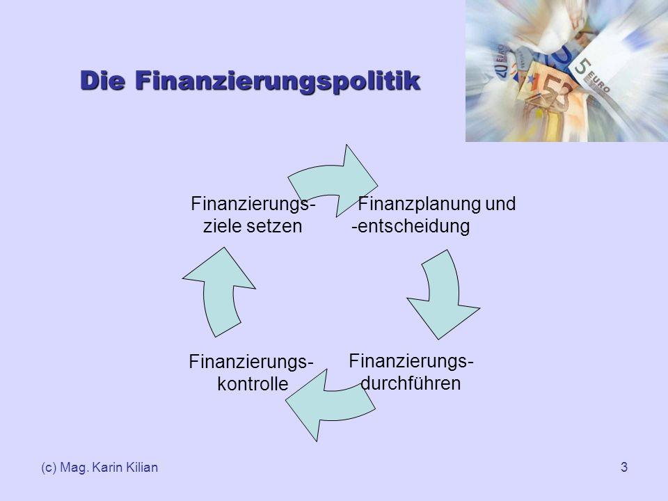 Die Finanzierungspolitik