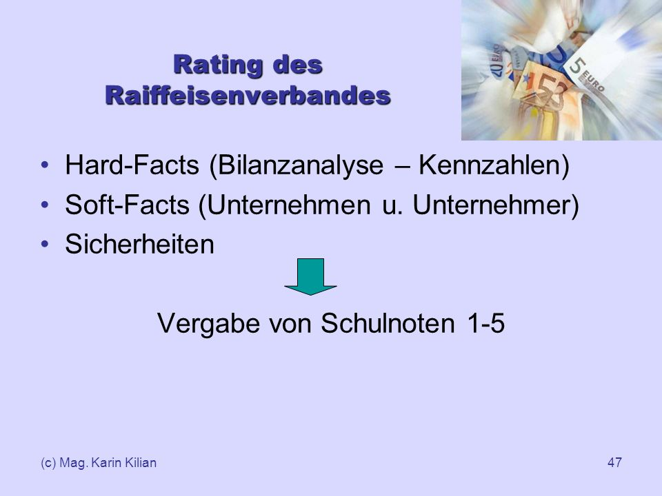 Rating des Raiffeisenverbandes