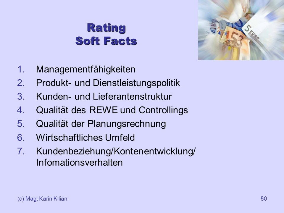 Rating Soft Facts Managementfähigkeiten