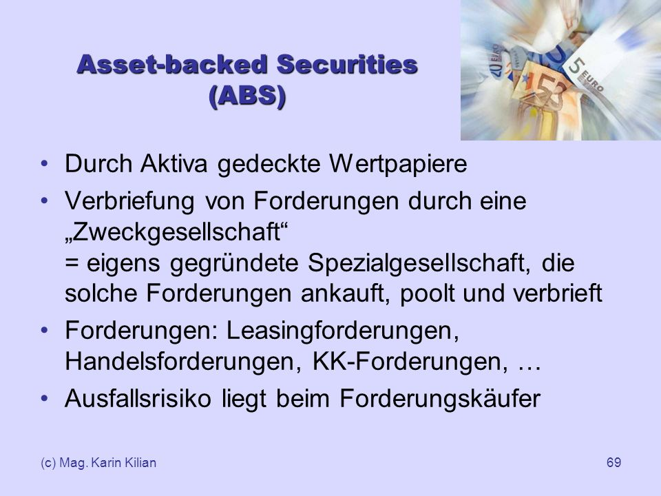 Asset-backed Securities (ABS)
