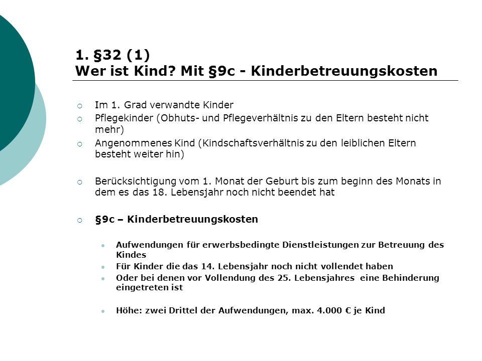 Wer ist Kind Mit §9c - Kinderbetreuungskosten