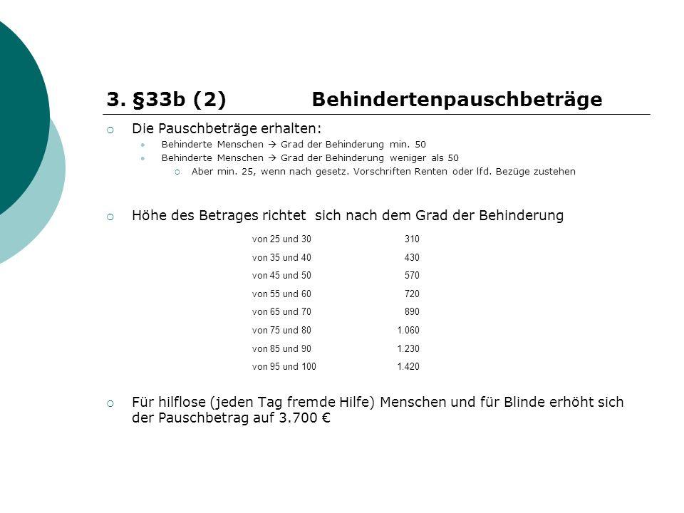 §33b (2) Behindertenpauschbeträge