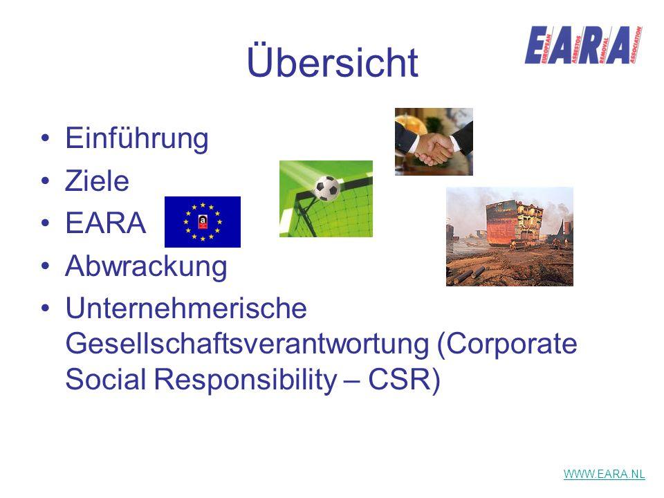 Übersicht Einführung Ziele EARA Abwrackung