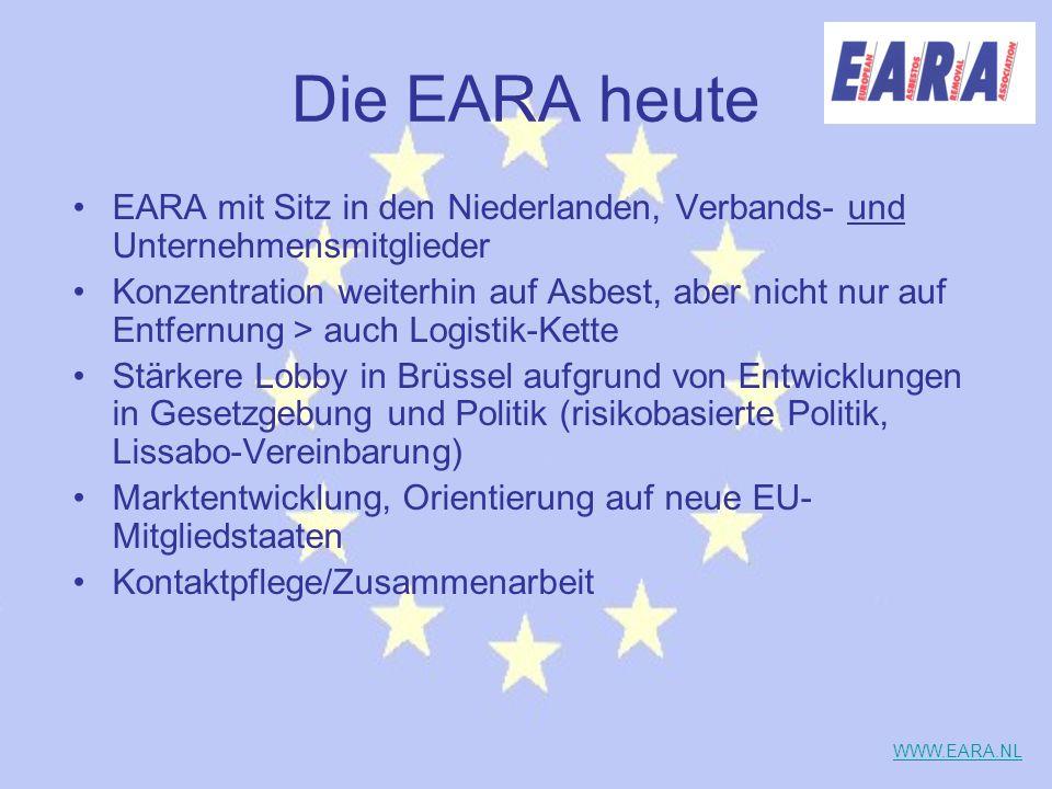 Die EARA heute EARA mit Sitz in den Niederlanden, Verbands- und Unternehmensmitglieder.