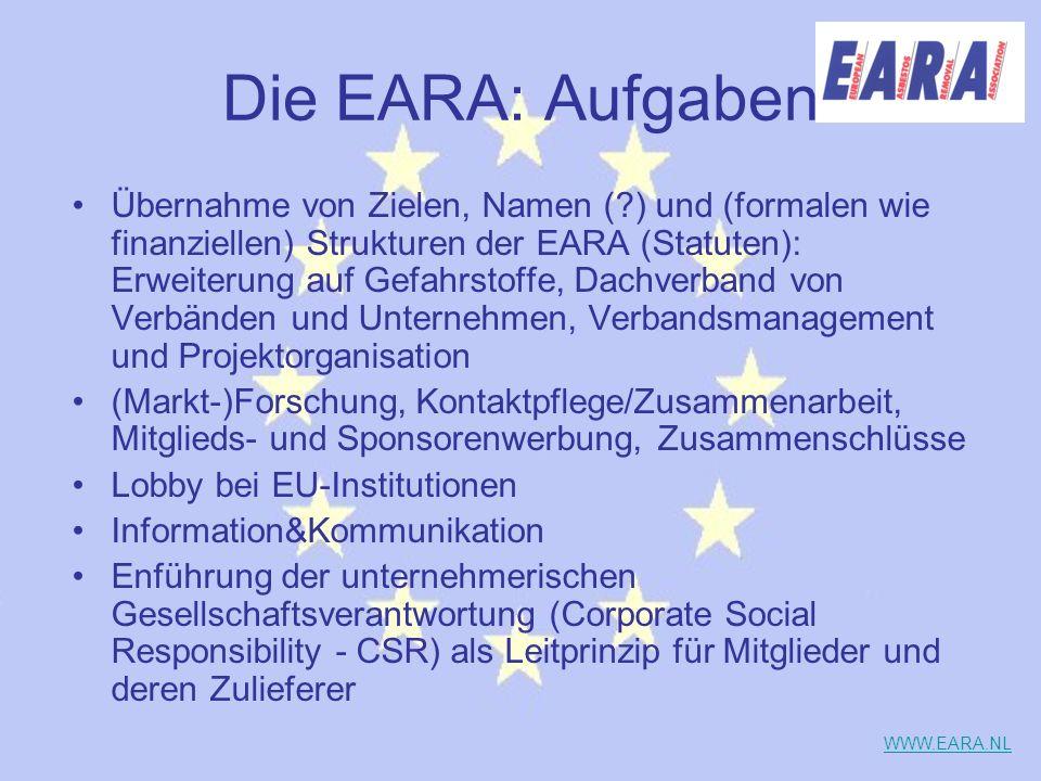 Die EARA: Aufgaben