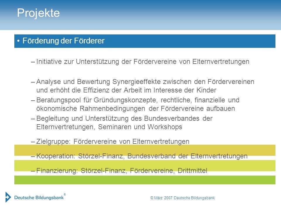 © März 2007 Deutsche Bildungsbank