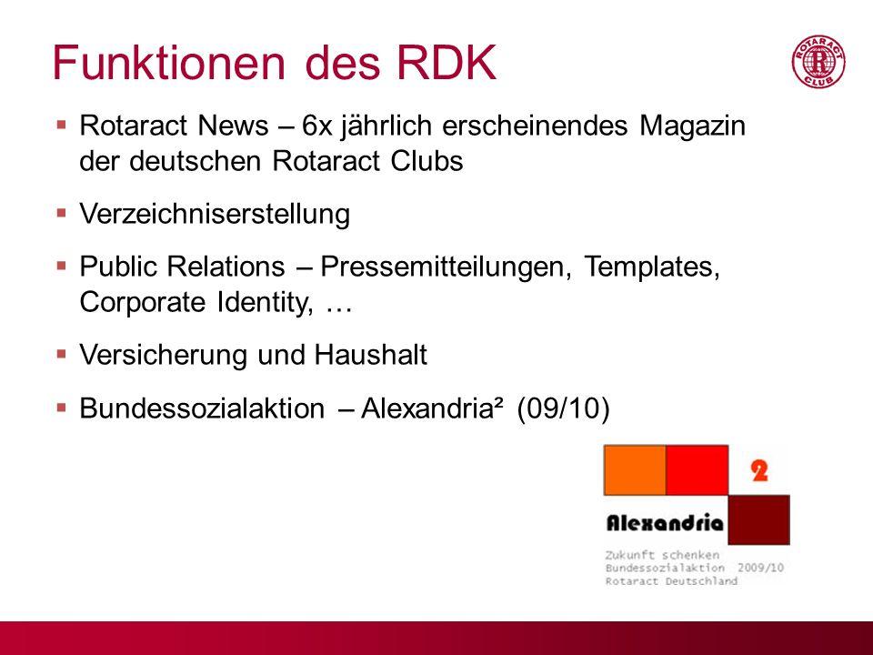 17.09.09 Funktionen des RDK. Rotaract News – 6x jährlich erscheinendes Magazin der deutschen Rotaract Clubs.