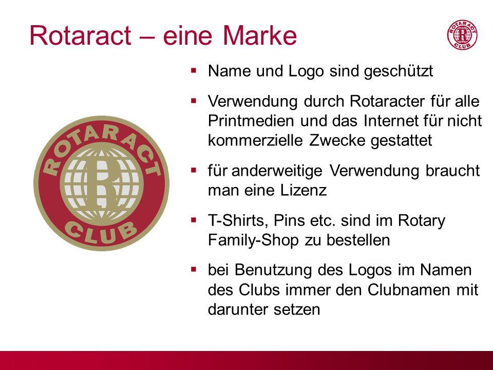 Rotaract – eine Marke Name und Logo sind geschützt