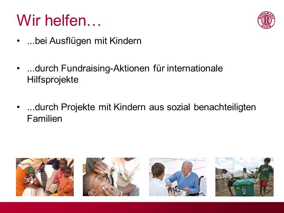 Wir helfen… ...bei Ausflügen mit Kindern