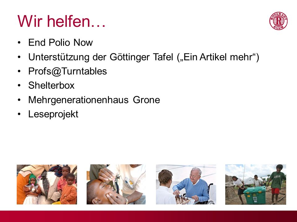 Wir helfen… End Polio Now
