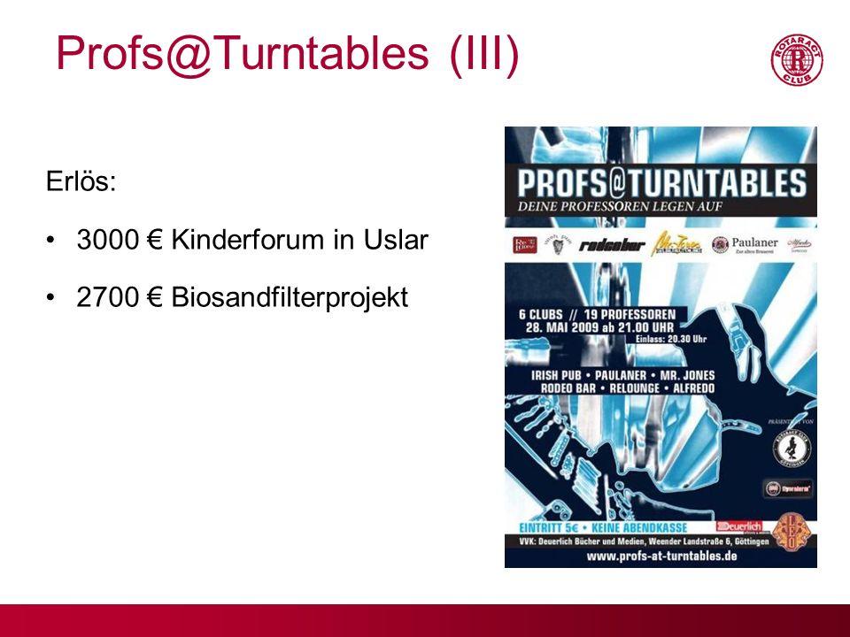 Profs@Turntables (III)