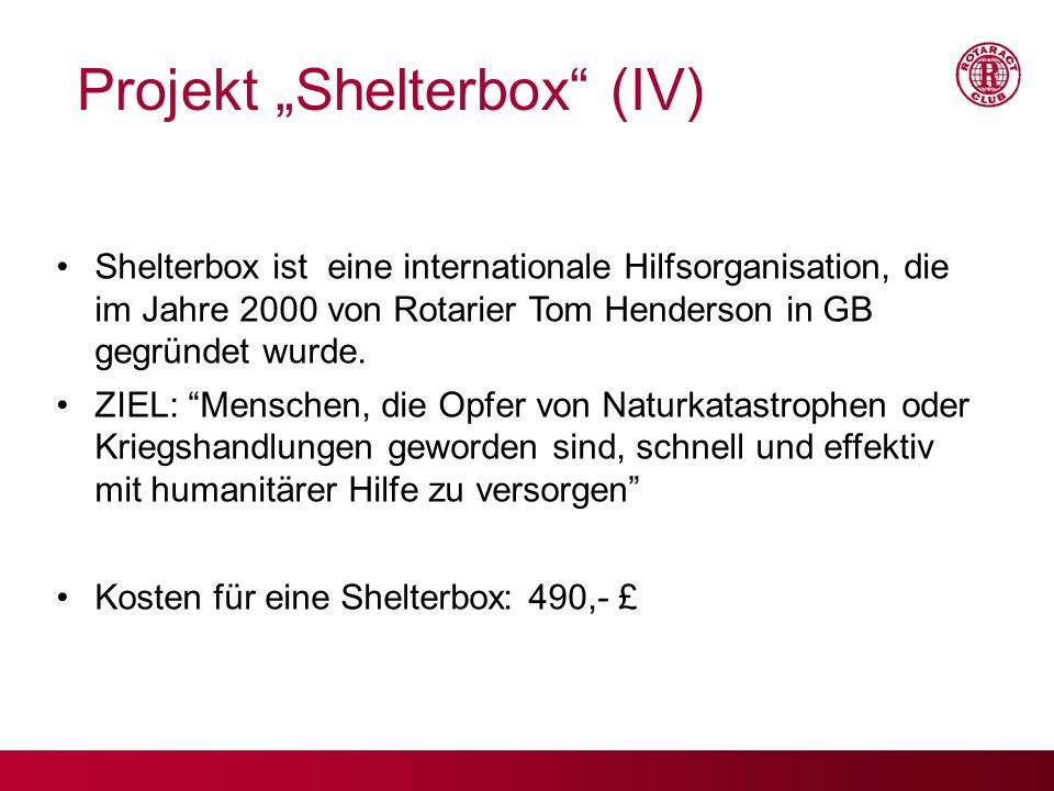 "Projekt ""Shelterbox (IV)"