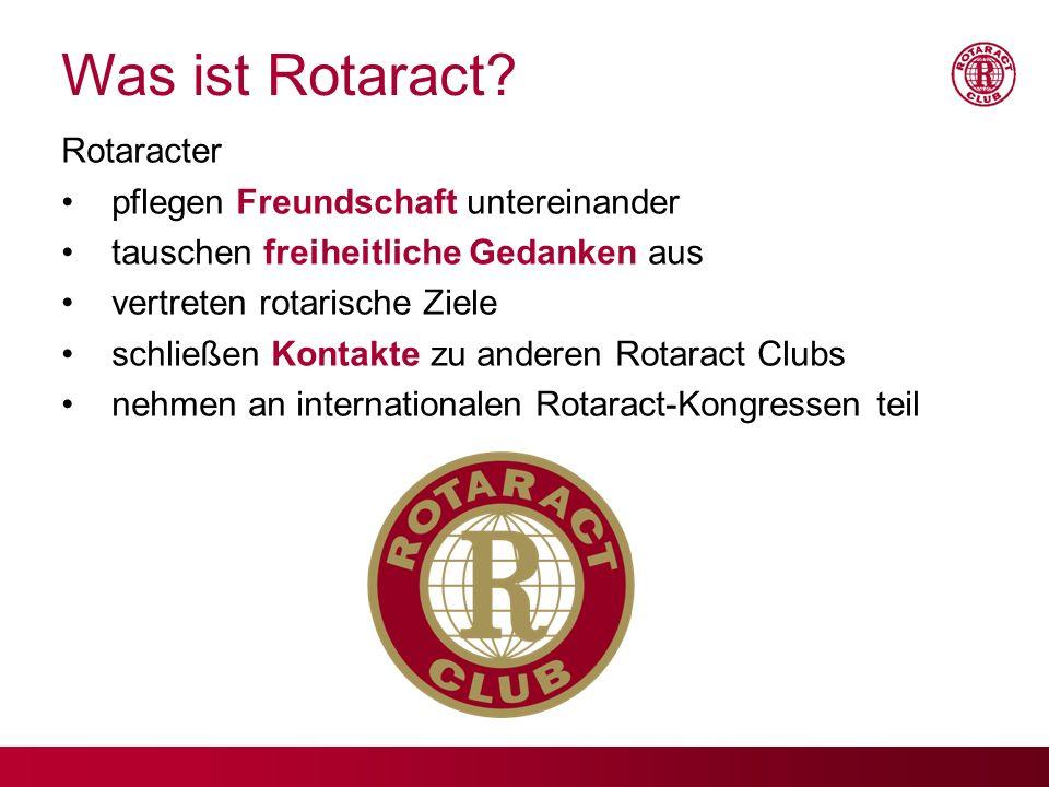 Was ist Rotaract Rotaracter pflegen Freundschaft untereinander