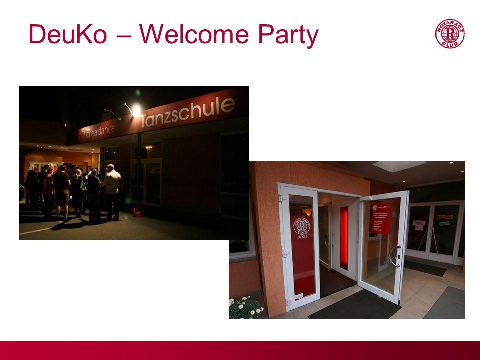 17.09.09 DeuKo – Welcome Party