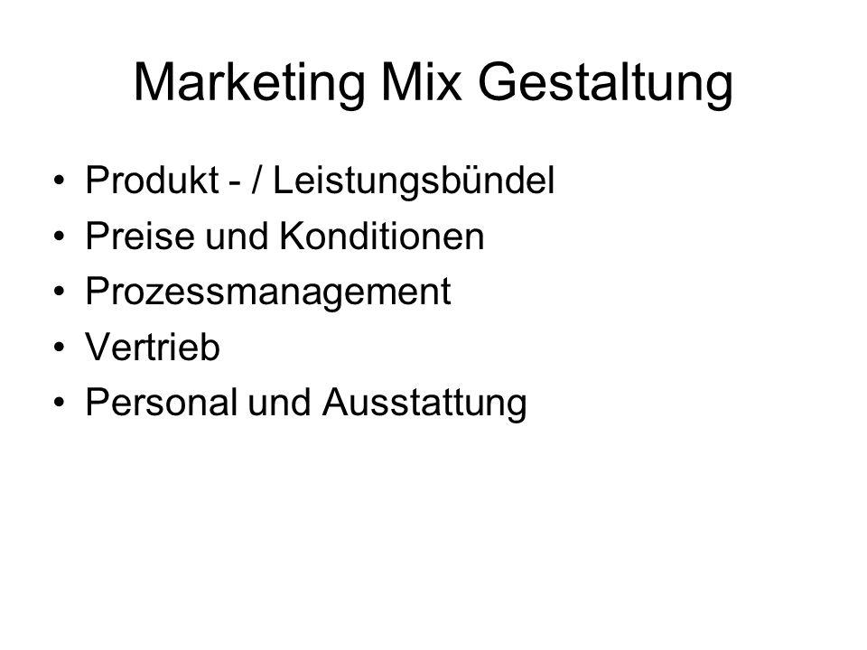 Marketing Mix Gestaltung