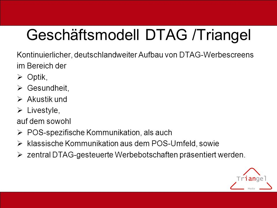 Geschäftsmodell DTAG /Triangel