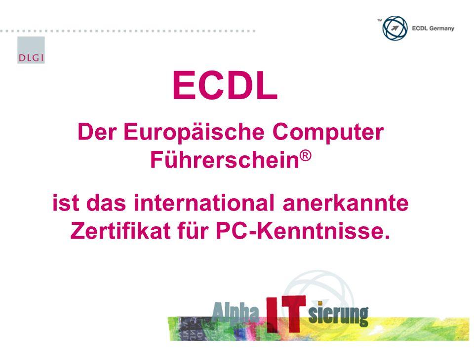 ECDL Der Europäische Computer Führerschein®