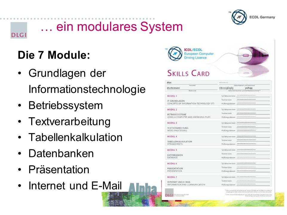 … ein modulares System Die 7 Module: Grundlagen der