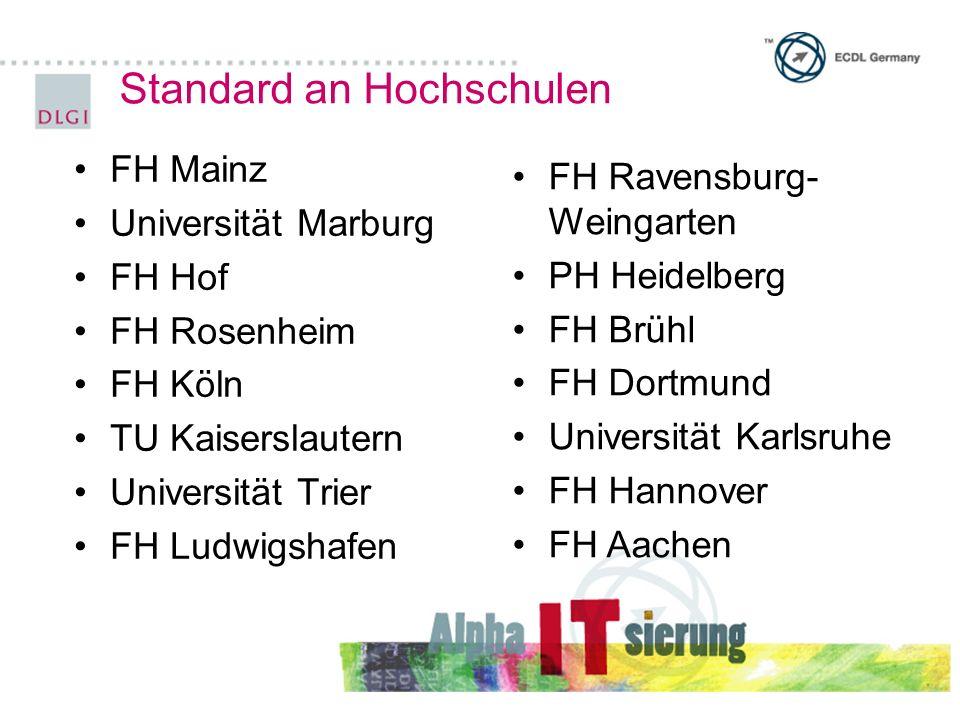 Standard an Hochschulen