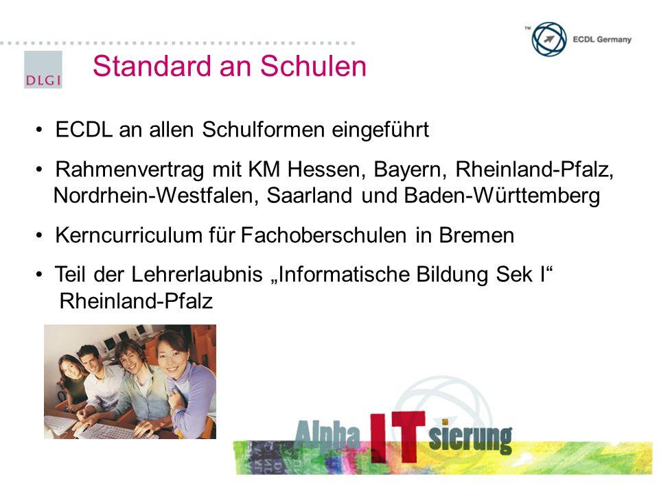 Standard an Schulen ECDL an allen Schulformen eingeführt