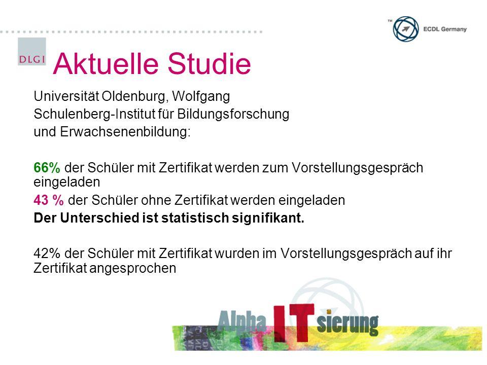Aktuelle Studie Universität Oldenburg, Wolfgang